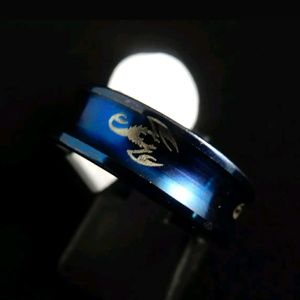 Other - Men Blue Scorpion Stainless Steel Ring Sz 11.5